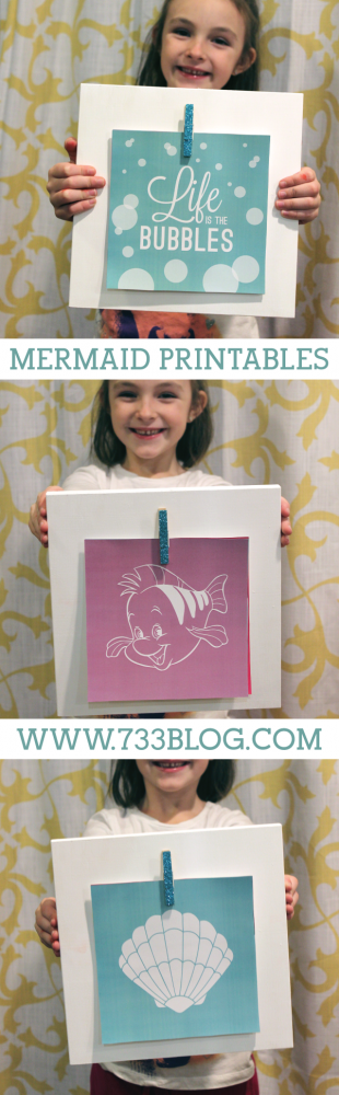 Mini Mermaid Gallery Wall - Free Printables to recreate your own!