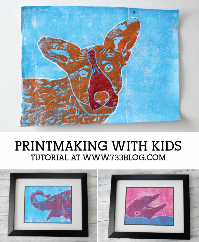 Printmaking with kids is a fun and easy art project with stunning results
