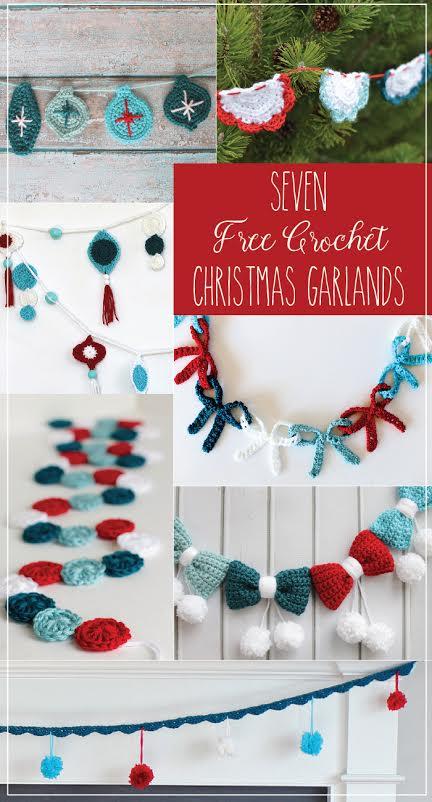 7 Free Crochet Christmas Garland Patterns