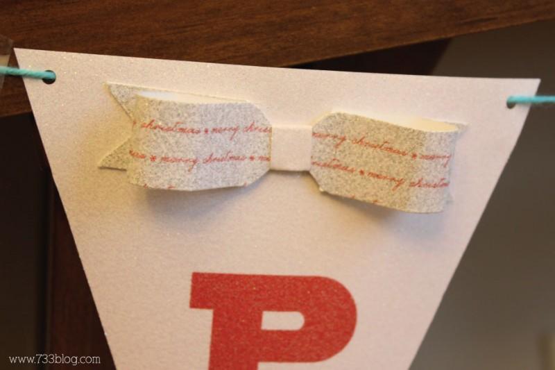 DIY Glitter Paper Bow