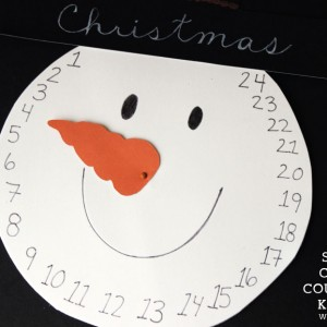 DIY Snowman Christmas Countdown Kids Craft