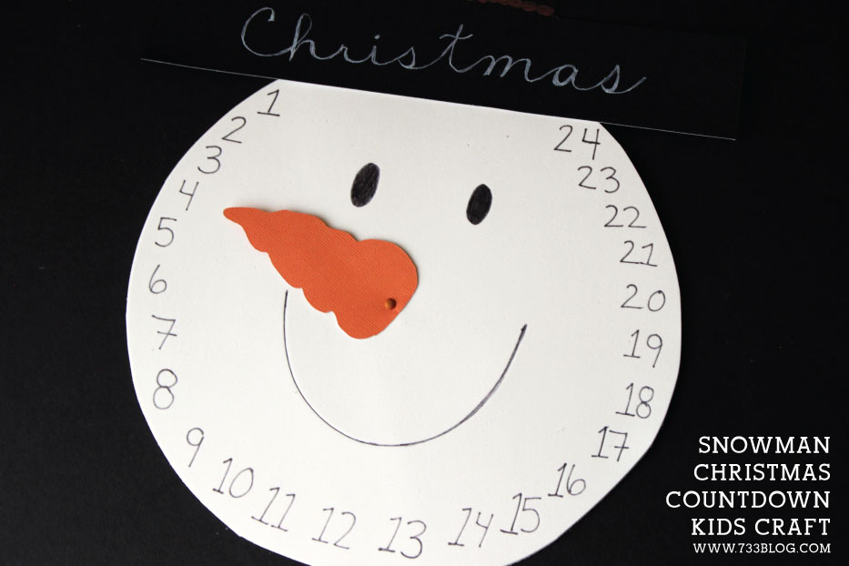 Diy Snowman Christmas Countdown Kids Craft Tutorial