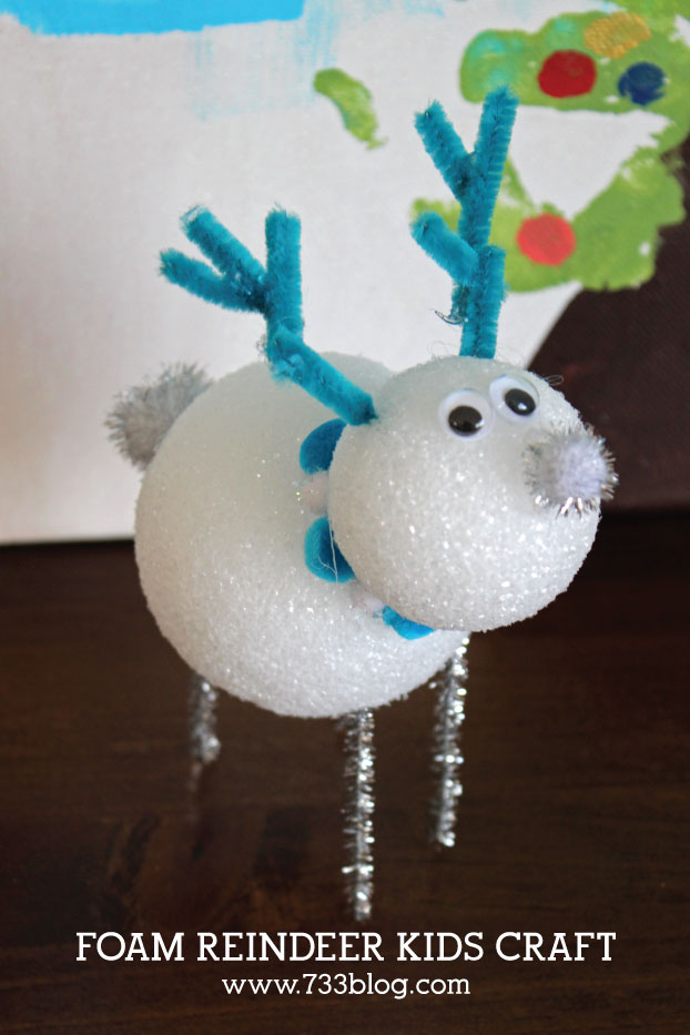 DIY FOAM REINDEER KIDS CRAFT
