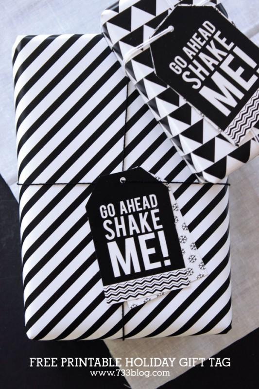 Free Printable Shake Me Holiday Gift Tag