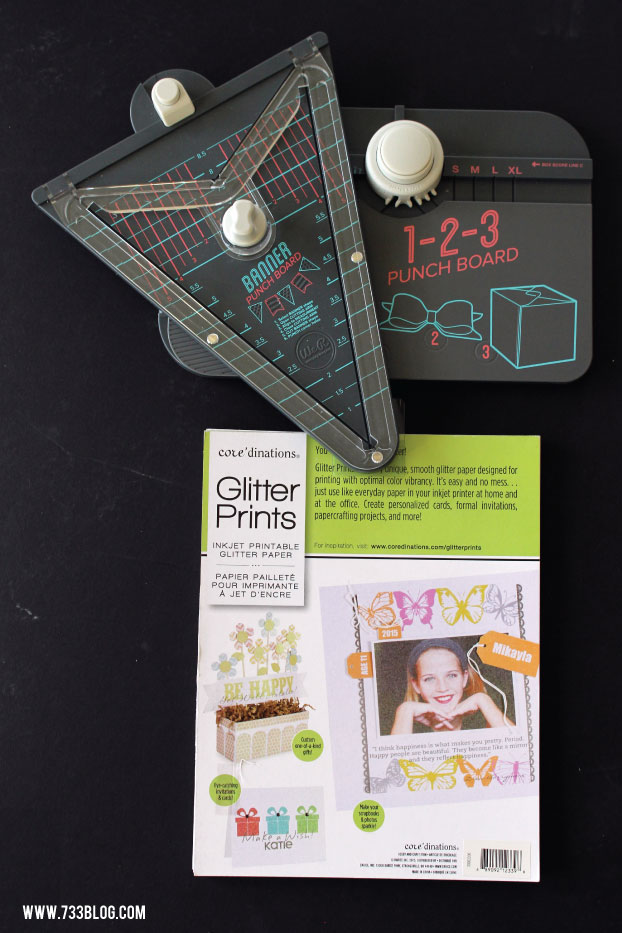 Mess Free Printable Glitter Paper