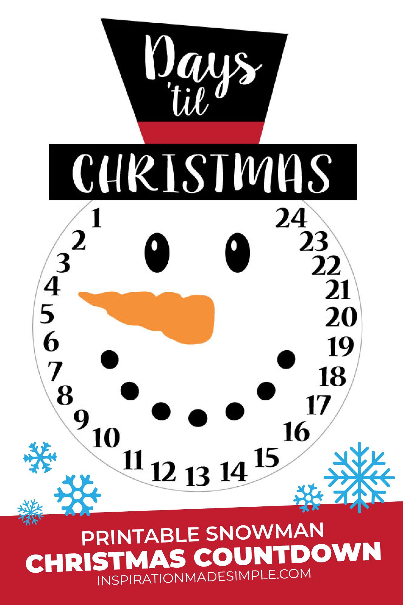 Printable Christmas Countdown