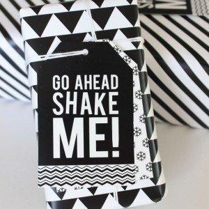 Shake Me Holiday Gift Tag