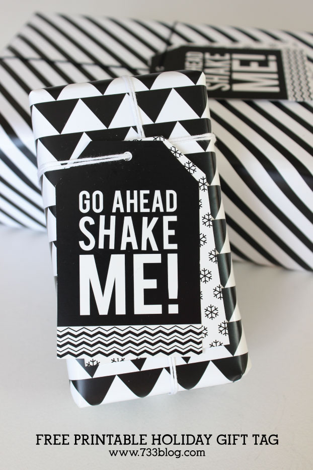 Free Printable Shake Me Holiday Gift Tag