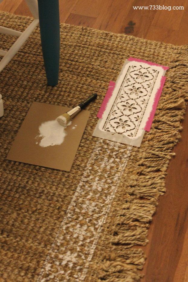 DIY Stenciled Rug