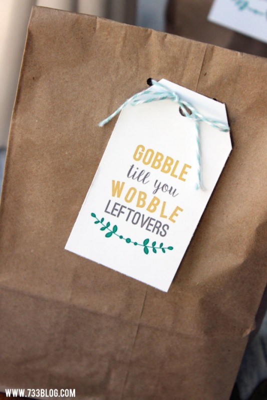 Free Printable Thanksgiving Leftovers Tag