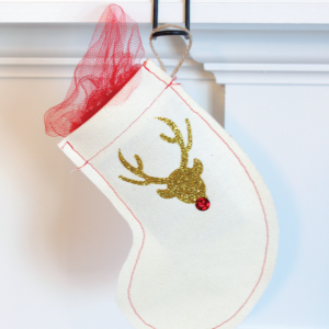 DIY Mini Scrap Fabric Stocking
