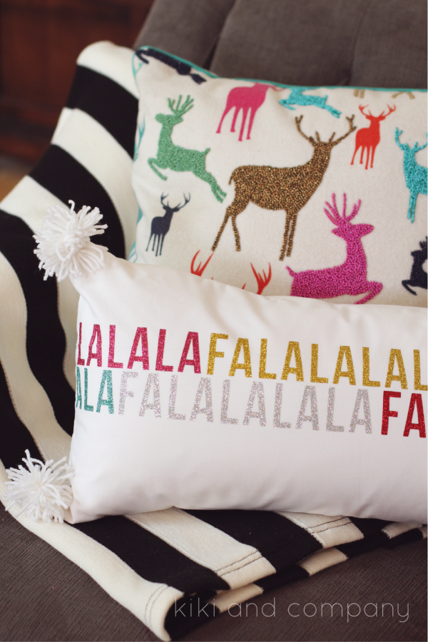 Glittery Vinyl Holiday Pillow