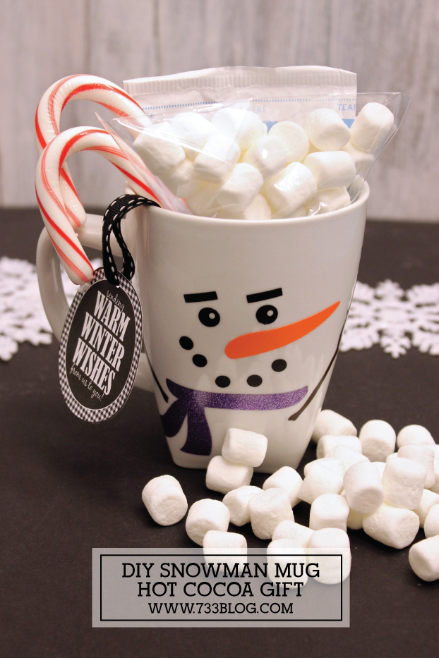DIY Snowman Mug Hot Cocoa Neighbor Gift Idea