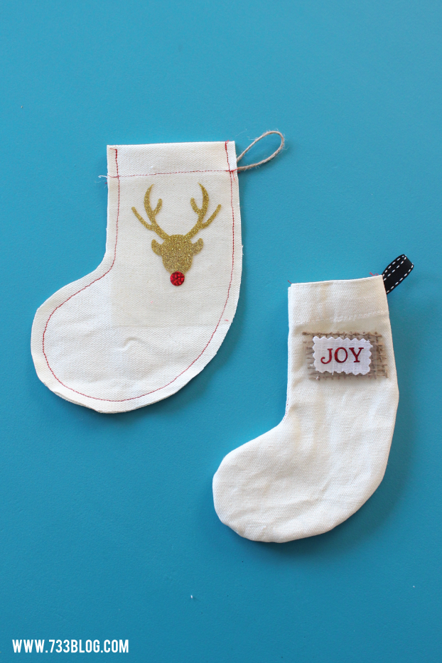 DIY Miniature Stockings - Perfect for gift card holders, tree ornaments or a stocking bunting!