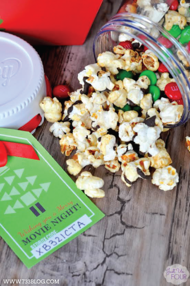 Free Printable Movie Night Gift Tag