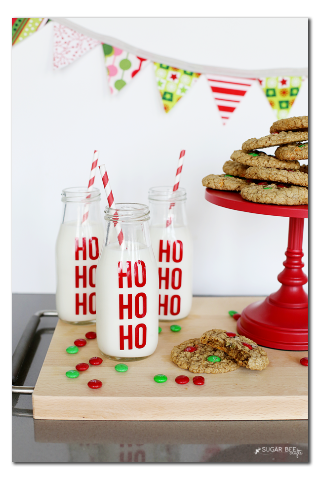 HO HO HO Milk Jars