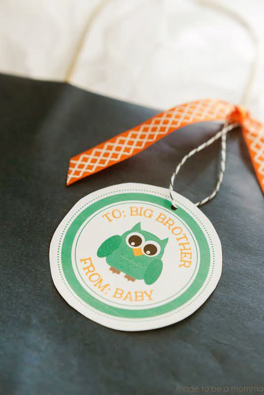 Big Sibling Gift Tags