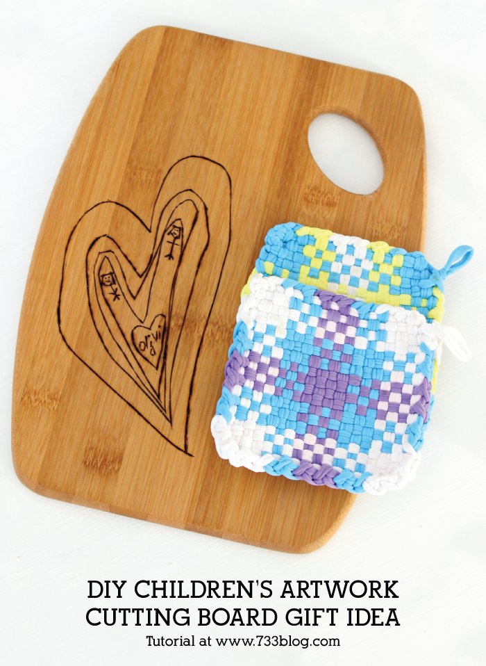 DIY Children's Artwork Cutting Board Tutorail