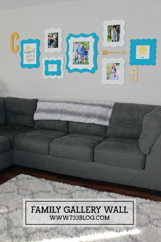 Family Themed Gallery Wall with Free Printables