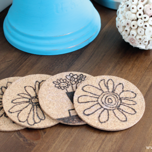 DIY Children's Artwork Coasters Tutorial