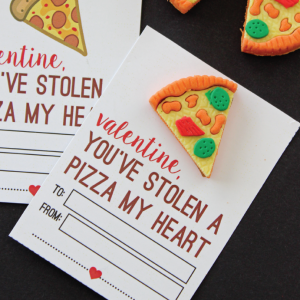 Printable Stole a Pizza My Heart Valentine