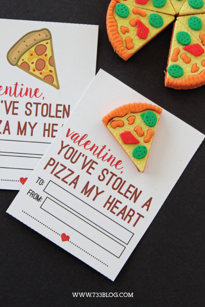 Printable Stole A Pizza My Heart Valentine Inspiration