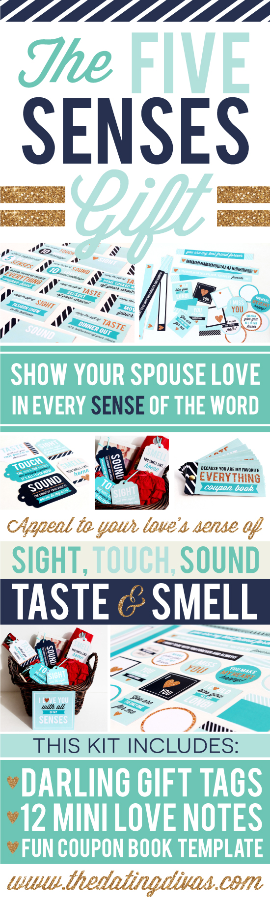 The Five Senses Printable Pack for your Partner