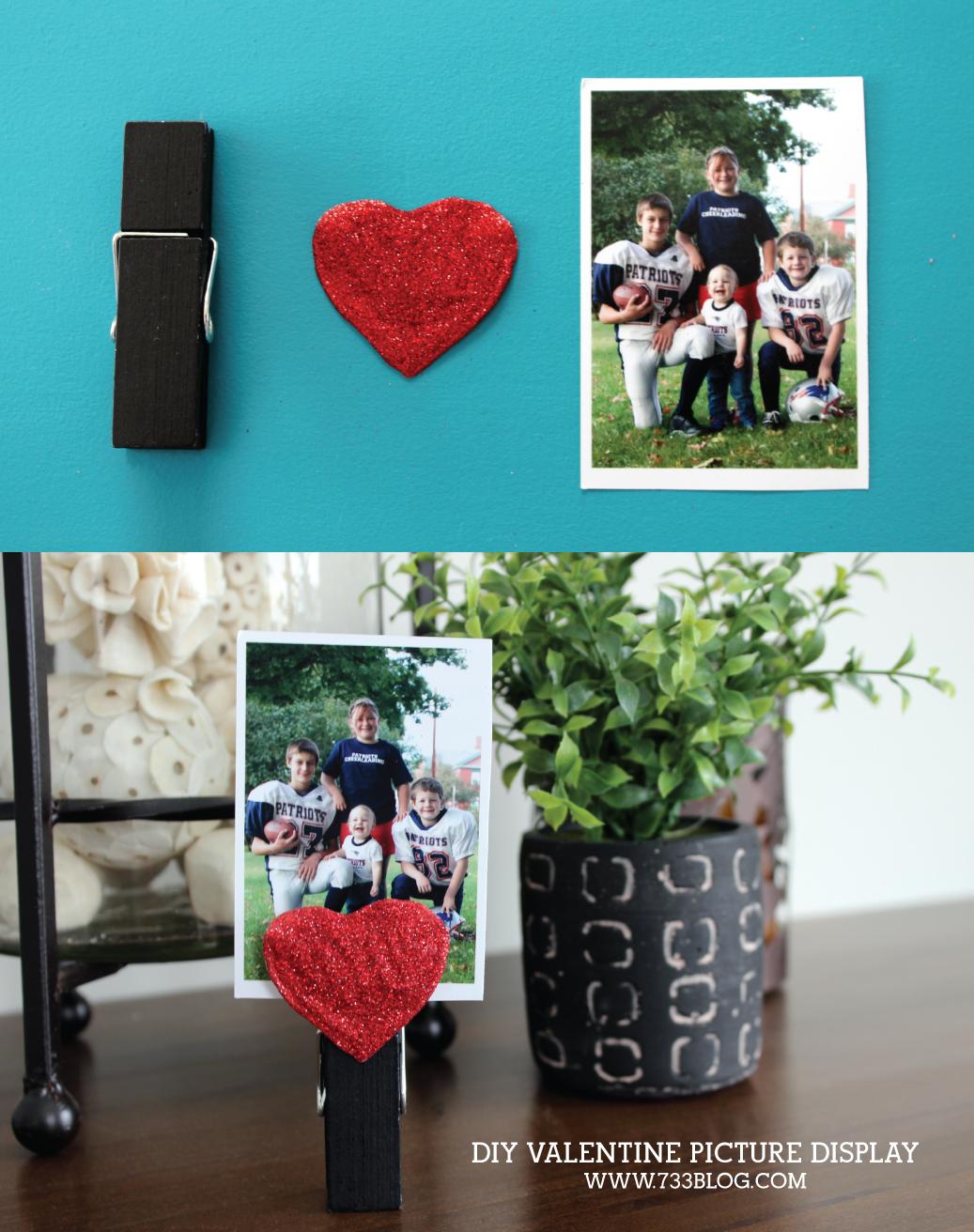 DIY Valentine Kids Craft Picture Display Tutorial