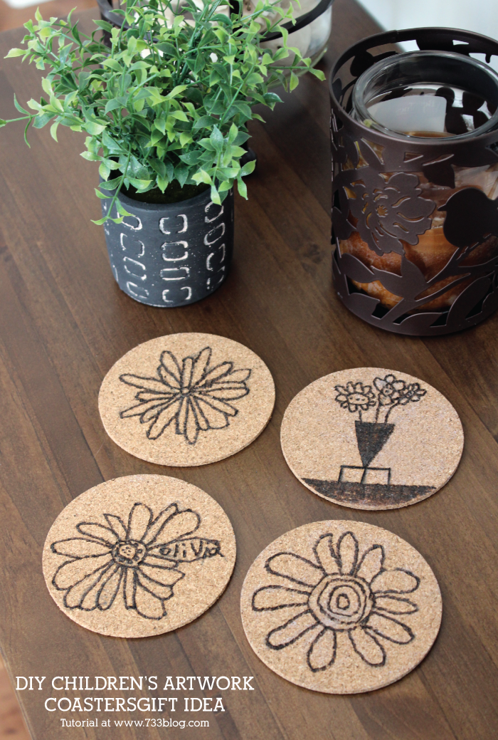 Children's DIY Artwork Coasters Tutorial