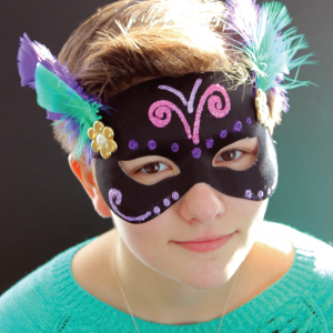 DIY Mardi Gras Mask Kids Craft