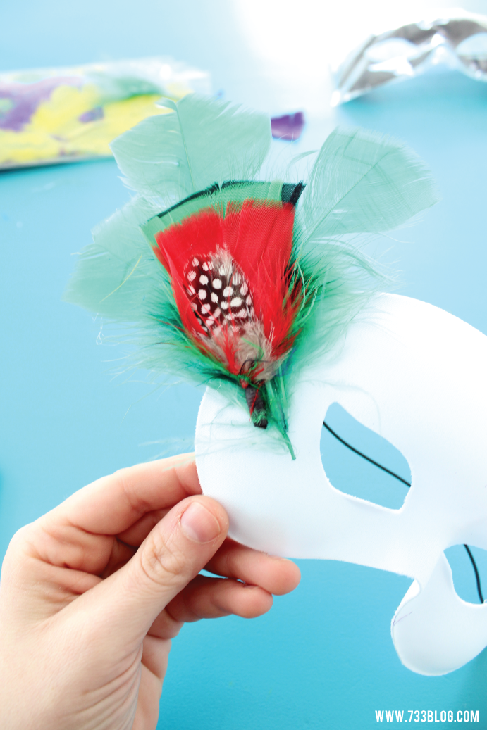 DIY Mardi Gras Mask Kids Craft