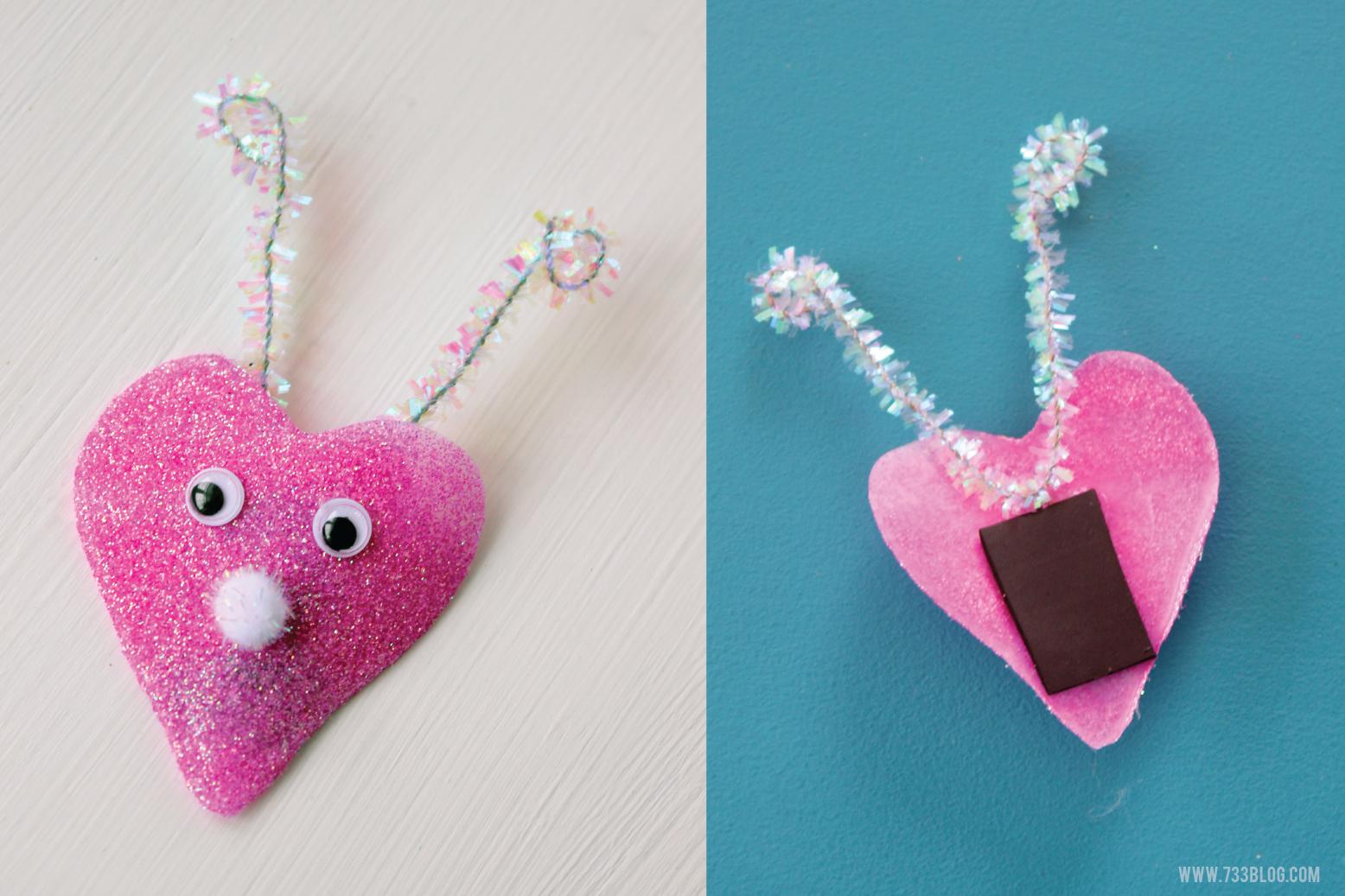 DIY Glitter Love Bug Magnet