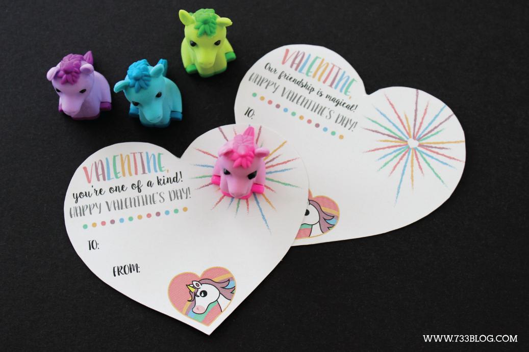 Printable Unicorn Classroom Valentine