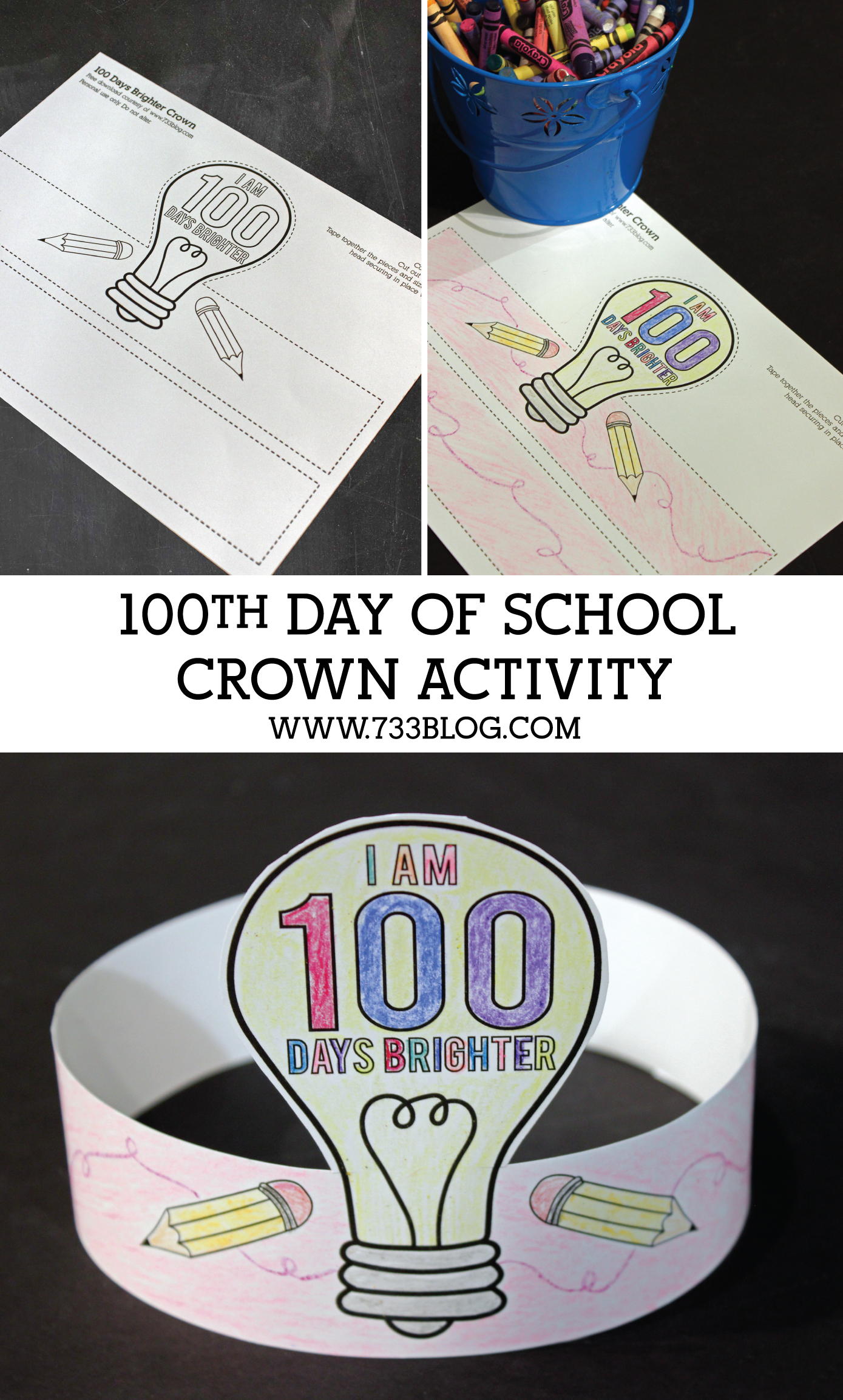 100 Days Brighter Crown Activity
