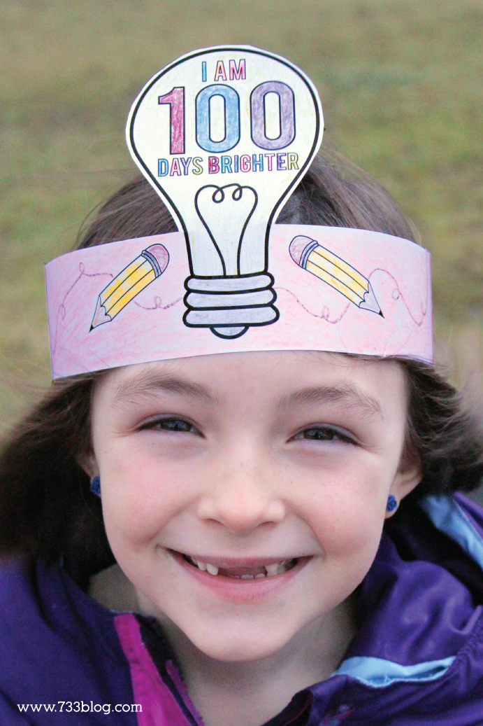 100 Days of School Crown Activity