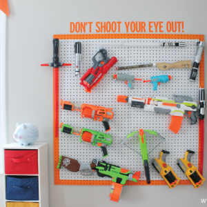 DIY Nerf Storage Solution