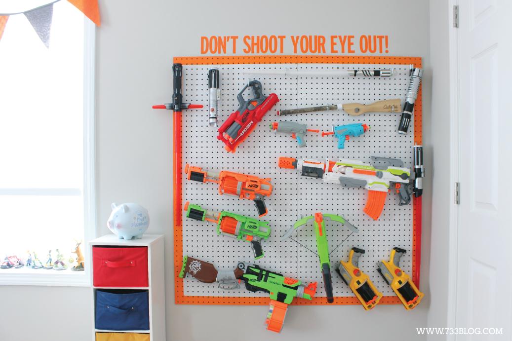 DIY Nerf Gun Storage