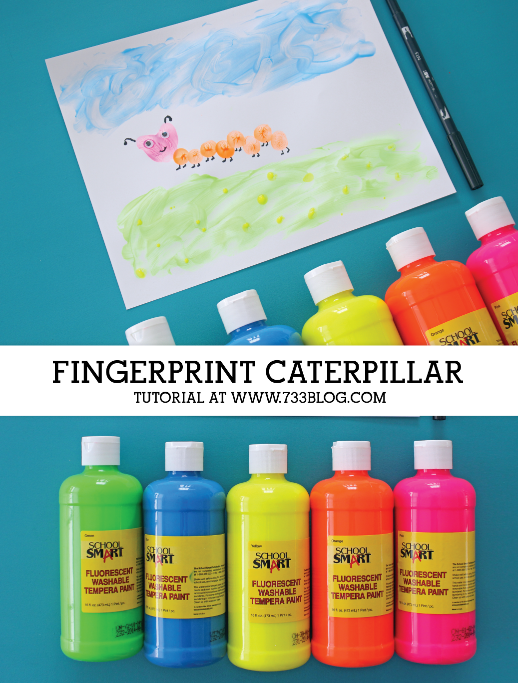 Fingerprint Caterpillar Kids Craft