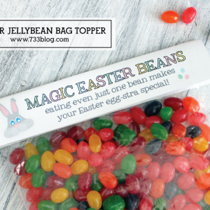 Printable Easter Magic Beans Bag Topper