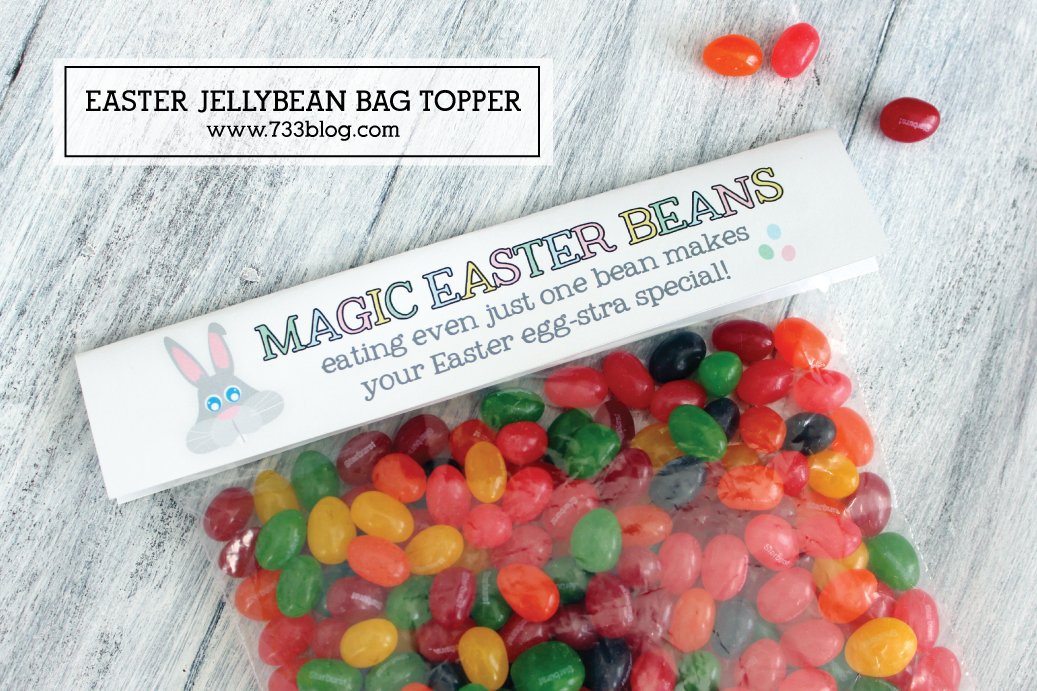 Printable Easter Jellybean Bag Toppers