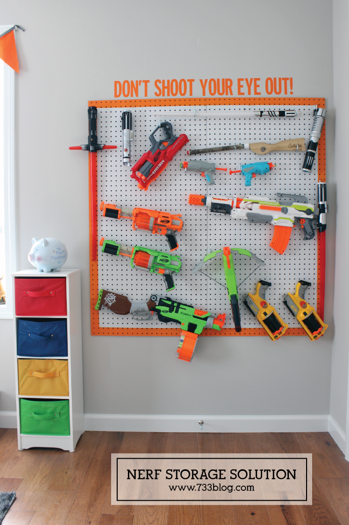 DIY Nerf Gun Storage Solution