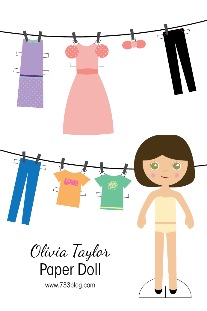 Olivia Taylor - Printable Paper Doll