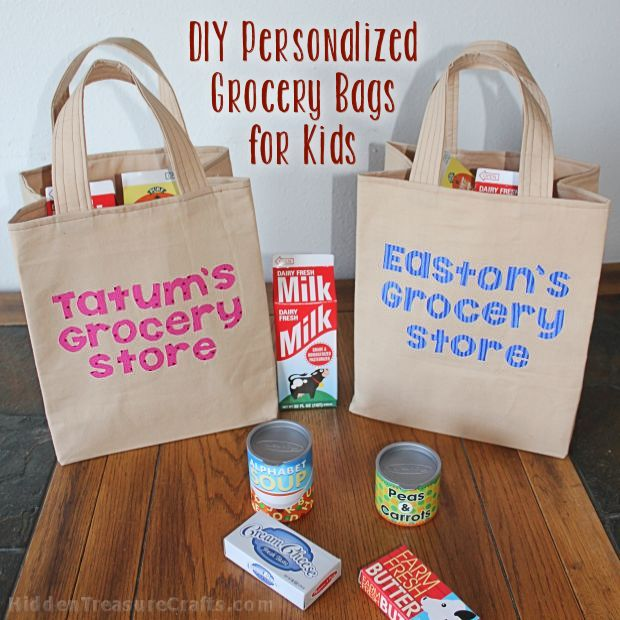 DIY Personalized Grocery Bags for Play