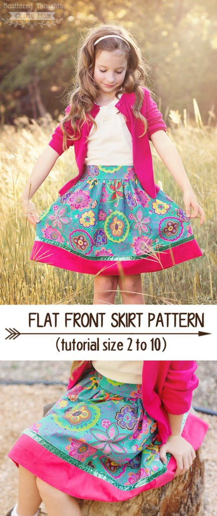 Flat Front Skirt Pattern and Tutorial