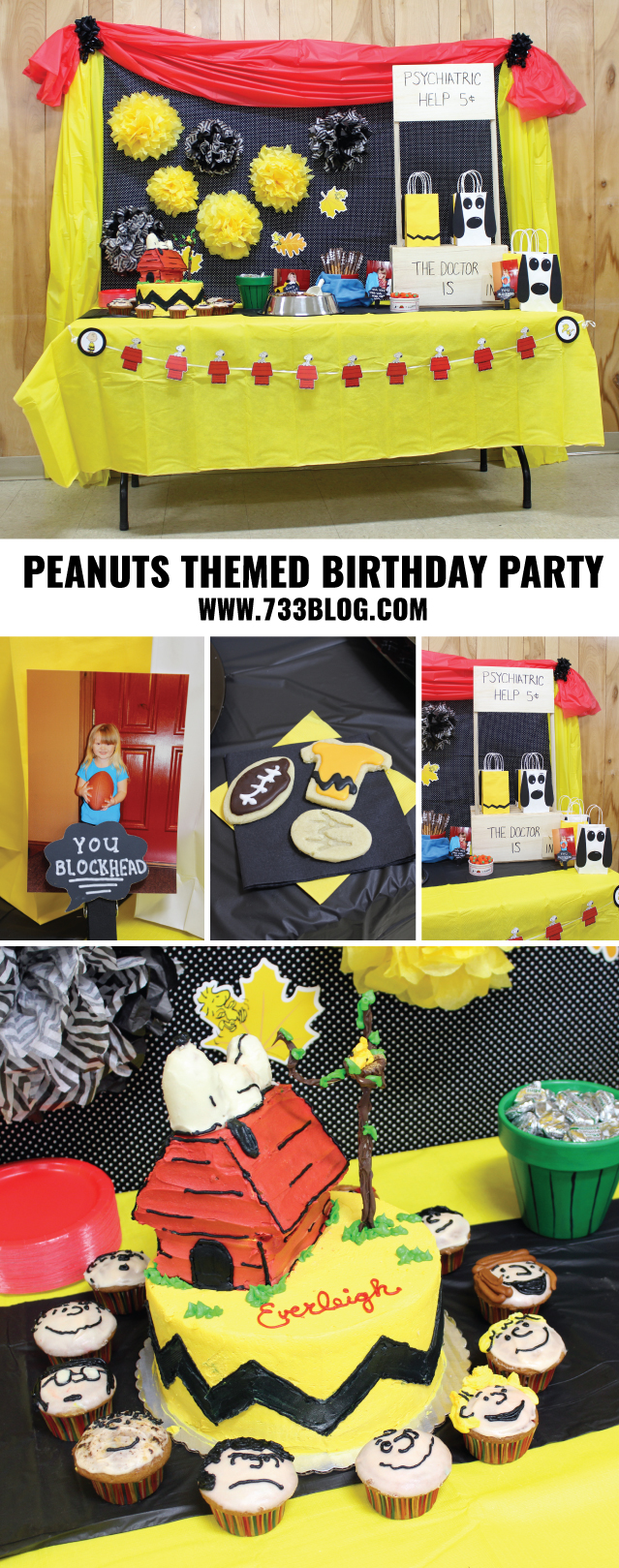 Peanuts Themed Birthday Party