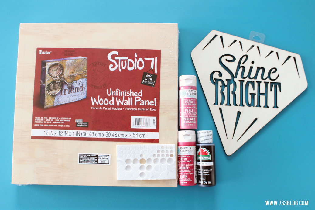 Simple DIY Shine Bright Wood Sign