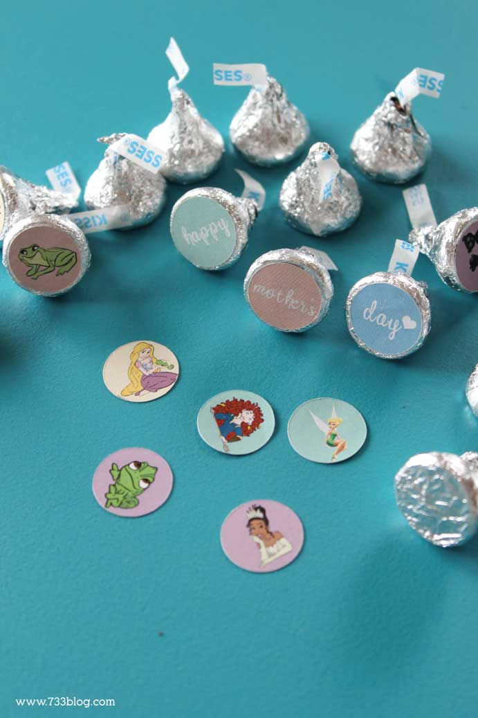 DIY Disney Hershey Kiss Stickers