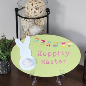 """Hoppity Easter"" DIY Easter Decor Sign"