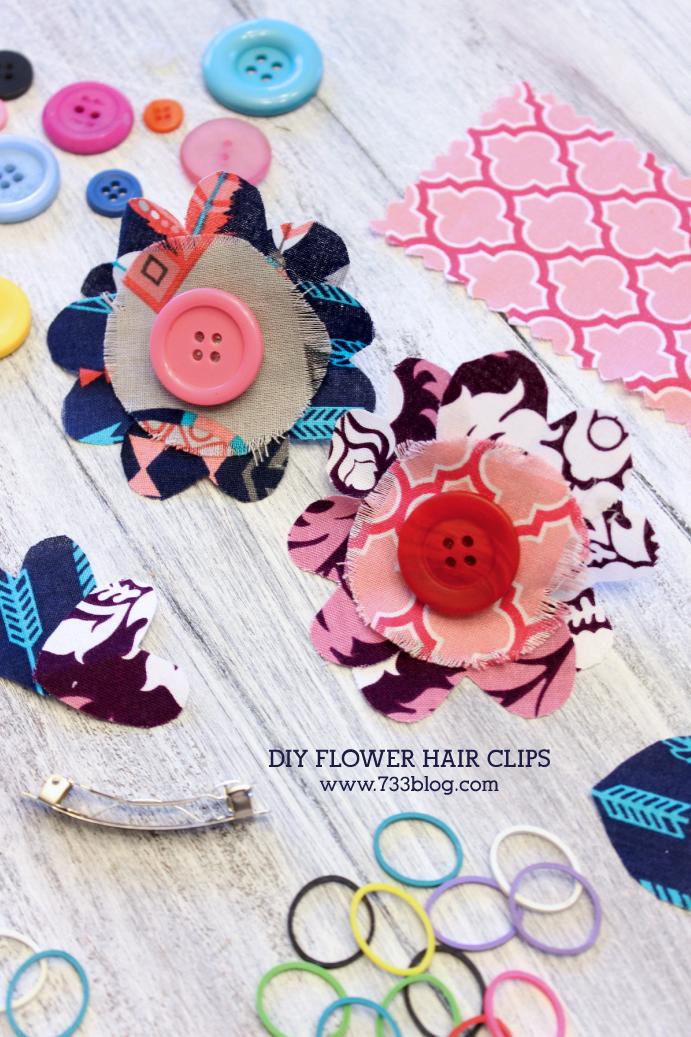 DIY Floral Hair Clips
