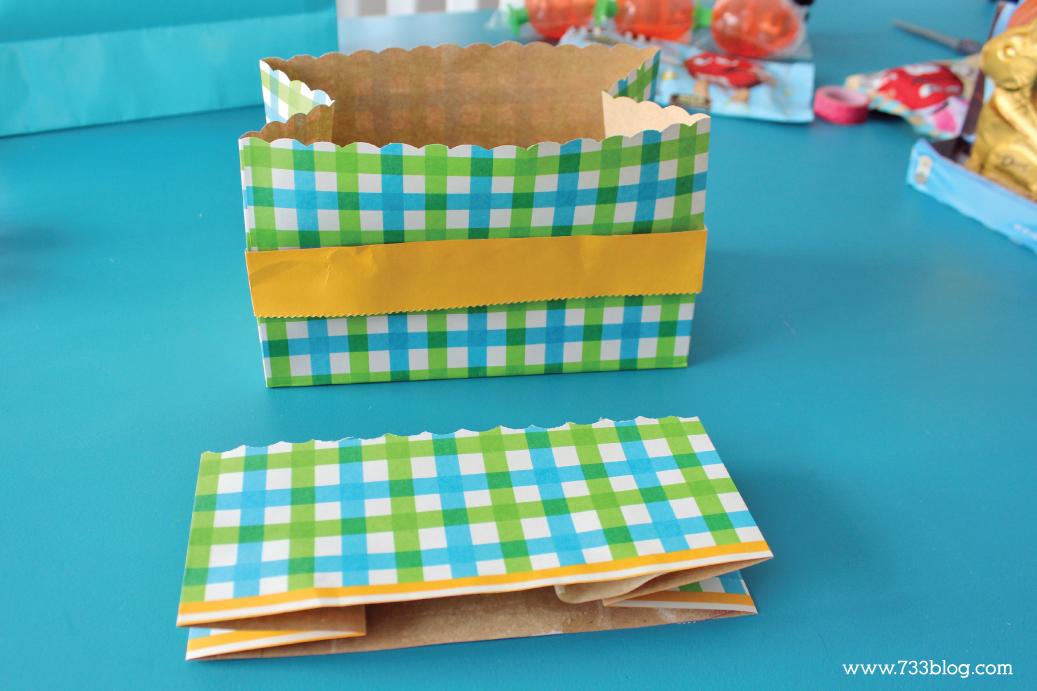 DIY Gift Bag Easter Basket Tutorial